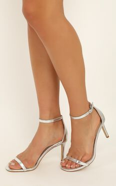 Billini - Jadore Heels In Silver Metallic
