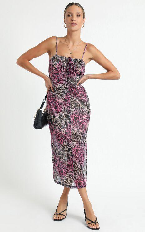 Twiin - Sabine Midi Dress in Multi