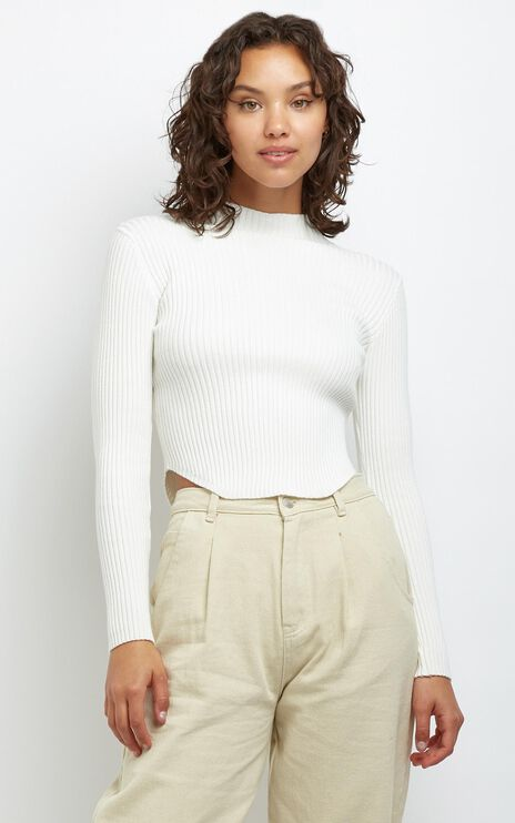 Davis Knit Top in White