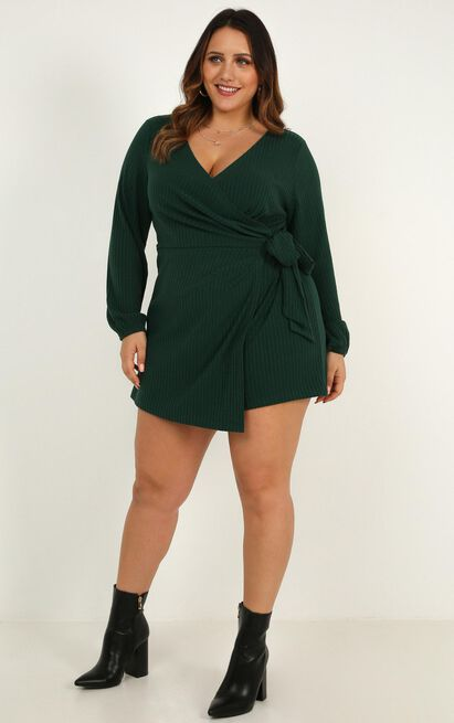 cruel intentions Playsuit In emerald - 18 (XXXL), Green, hi-res image number null