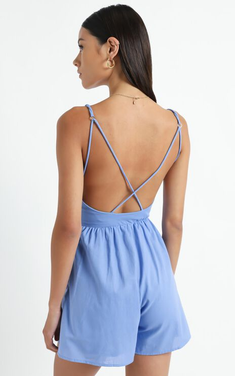 Therasia Playsuit in Blue