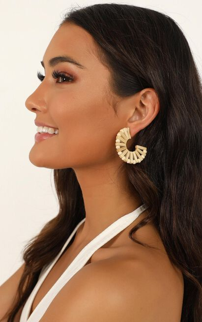 Hall Of Fame Earrings In Natural, , hi-res image number null