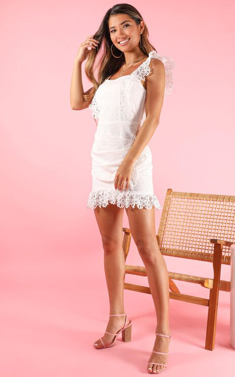 Make It Out Dress In White Lace