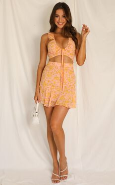 Street Credibility Two Piece Set In Pink Floral