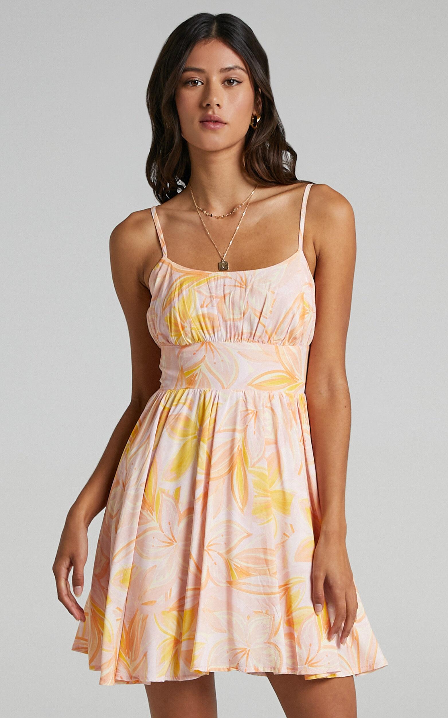 Summer Jam Sweetheart Mini Dress in Summer Floral - 06, PNK2, super-hi-res image number null