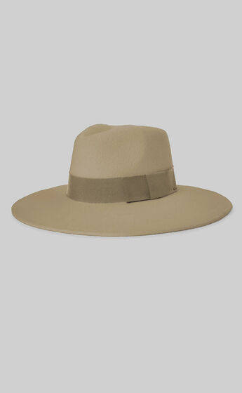 Brixton - Joanna Felt Hat in Light Khaki