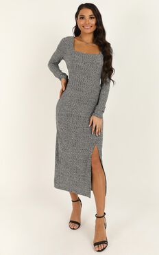 Enjoy The Moment Dress In Grey Marle
