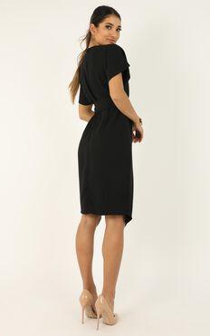 Keeping Busy Dress In Black