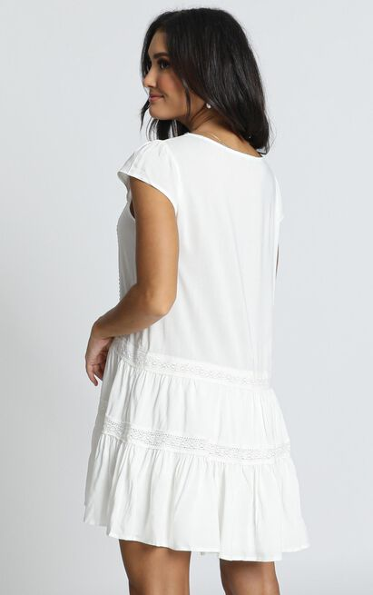 Modern Classic Dress in white - 12 (L), White, hi-res image number null