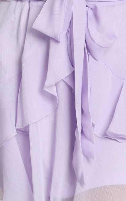 Leanna Wrap Mini Skirt in lilac - 12 (L), Purple, hi-res image number null