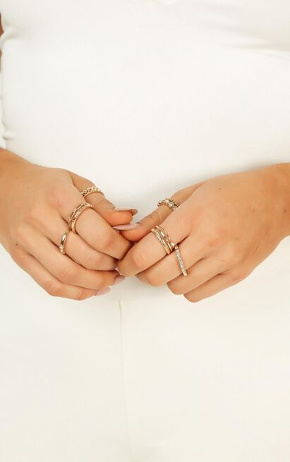 Straight Back To You Ring Set In Gold, , hi-res image number null