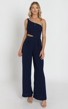 Beautiful Darkness Jumpsuit In Navy