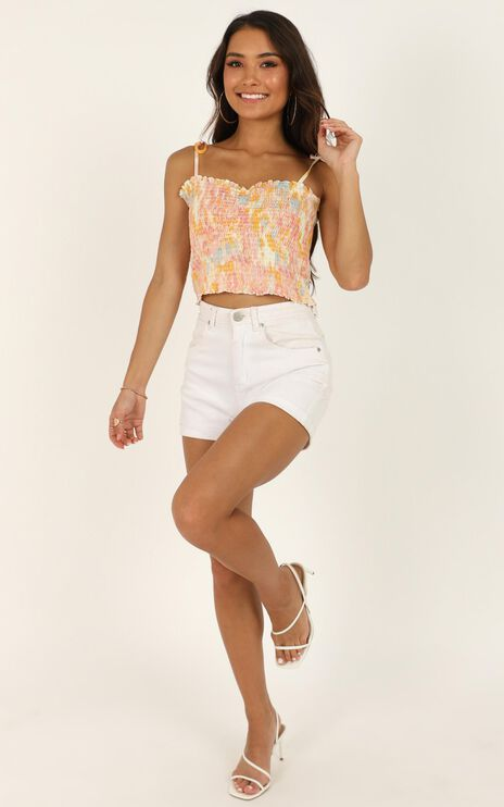Scattered Love Top In Pink Tie Dye