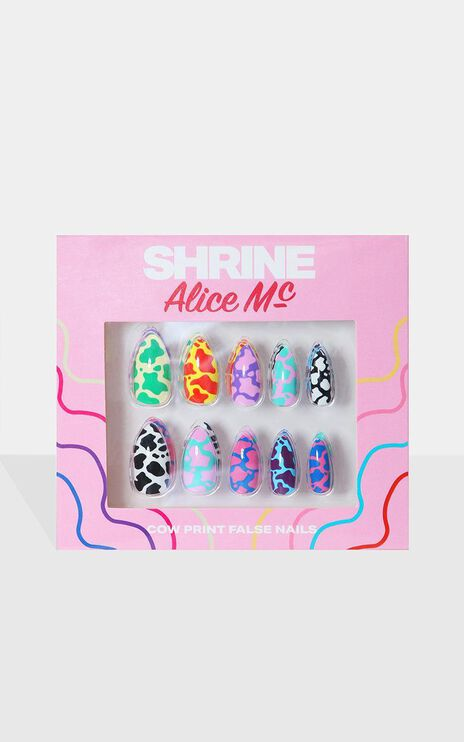 Shrine X Alice Mc - Cow Print False Nails