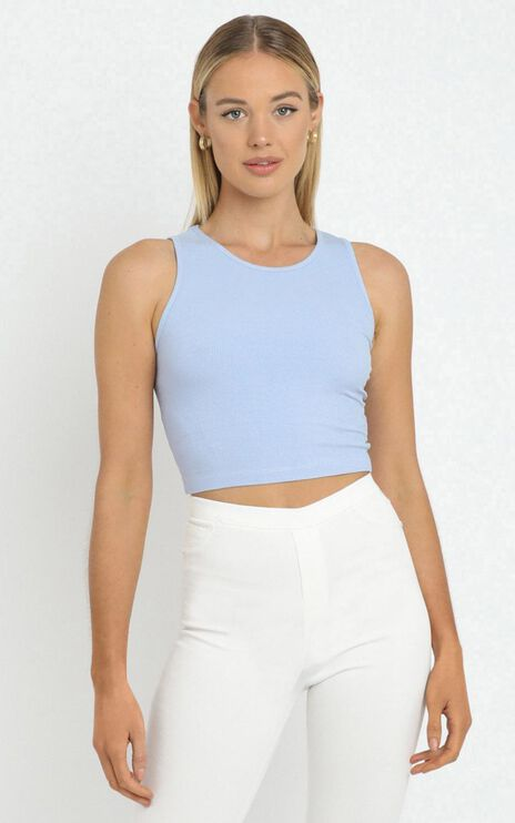 Nerissa Top in Blue