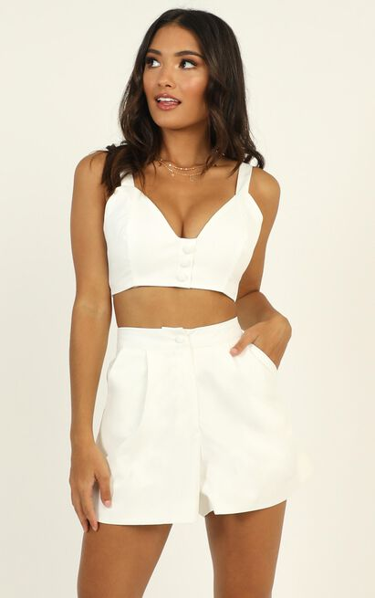 All the moves Two Piece Set in white - 12 (L), White, hi-res image number null