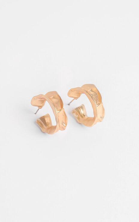 Viola Hoop Earrings In Gold