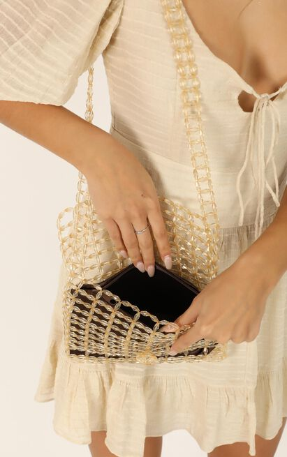 Show Me Your Love Beaded Bag In Champagne, , hi-res image number null