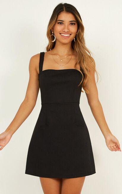Rising Fame Dress In Black - 4 (XXS), Black, hi-res image number null