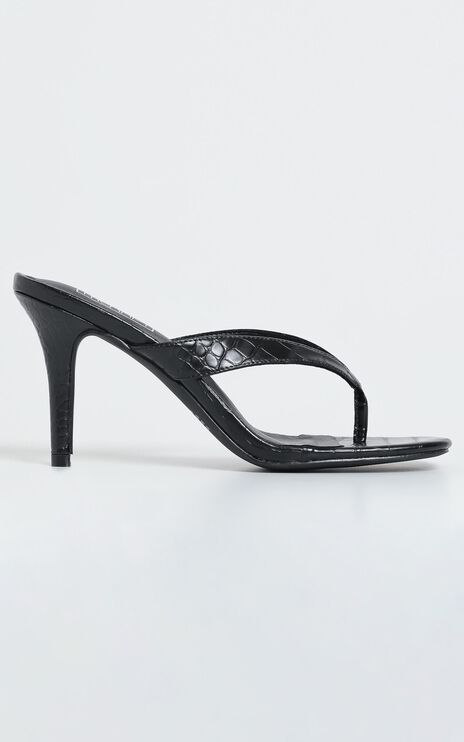 Therapy - Mira Heels in Black Croc