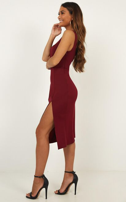 Mini Love Dress In Wine - 4 (XXS), Wine, hi-res image number null