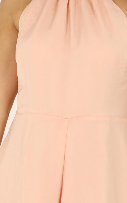 High Tide Playsuit in light pink satin - 20 (XXXXL), Pink, hi-res image number null