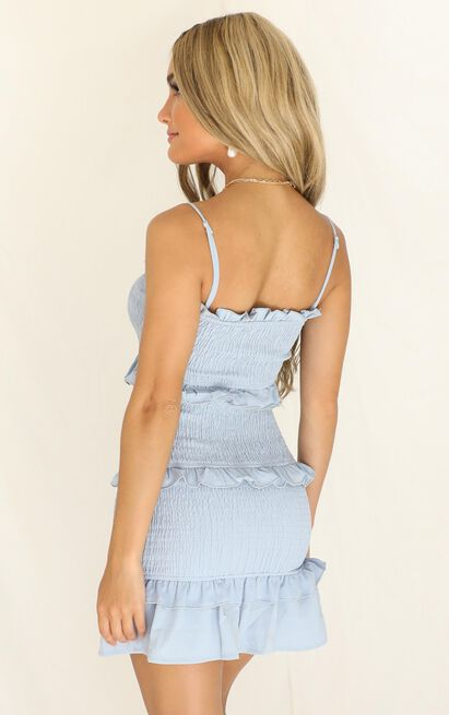 Throw It To Me dress in blue - 16 (XXL), Blue, hi-res image number null