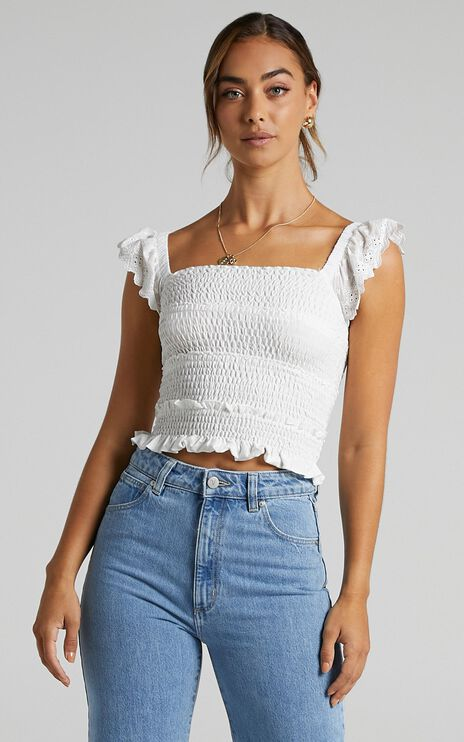Alma Top in White