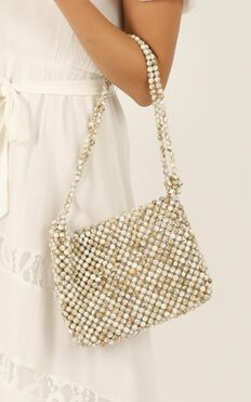 After The Sun Beaded Bag In Stone