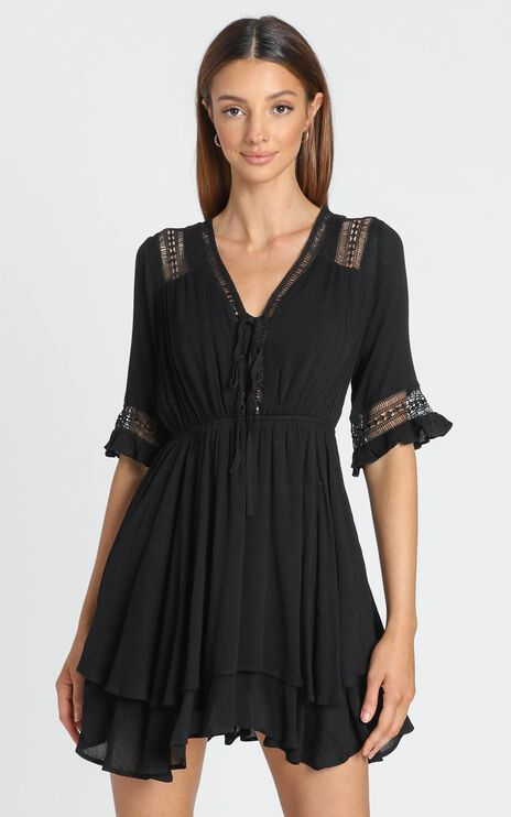 Rise Again Dress in Black