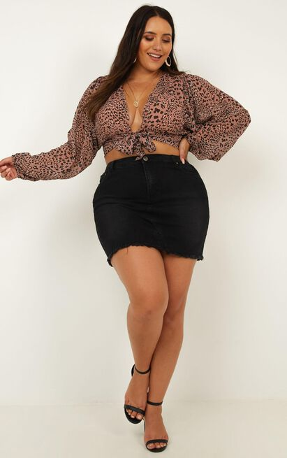What More Can I Say Top In mocha leopard - 20 (XXXXL), Mocha, hi-res image number null