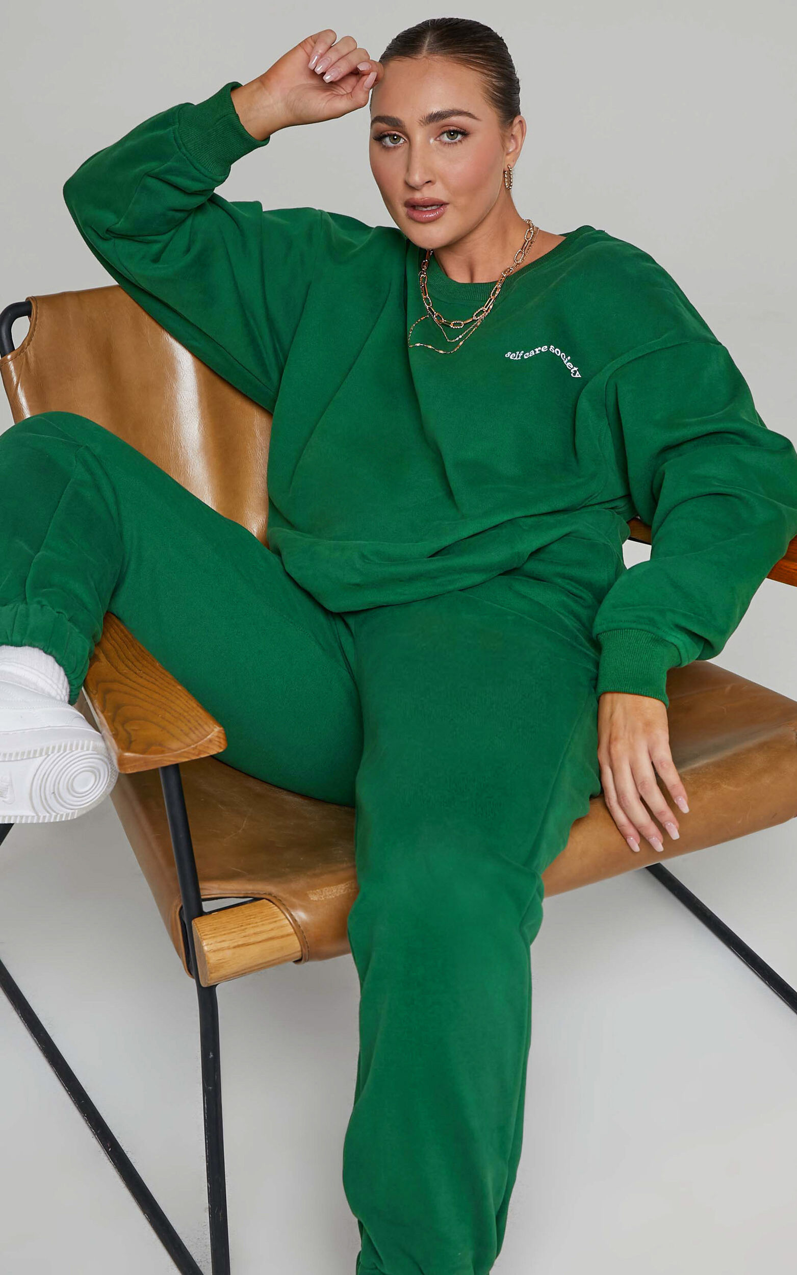 Sunday Society Club - Gael Sweatshirt in Green - 04, GRN2, super-hi-res image number null
