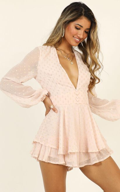 Lets Run Away Playsuit in blush - 20 (XXXXL), Blush, hi-res image number null