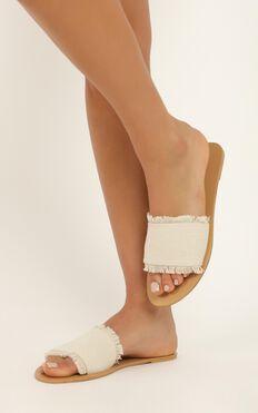 Billini - Calgari Slides In Cream Woven