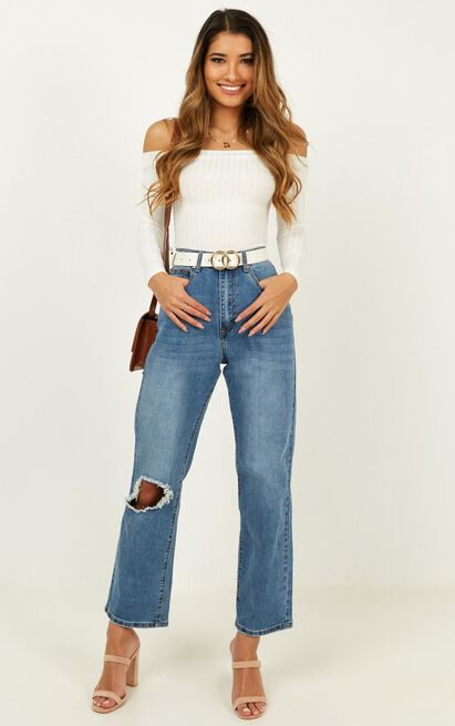 Gwen Jeans In bright blue wash - 20 (XXXXL), Blue, hi-res image number null