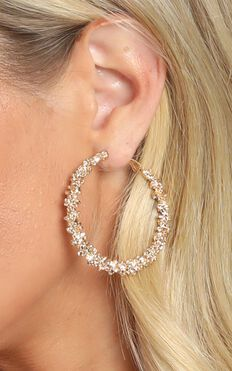 New Film Hoop Earrings In Gold