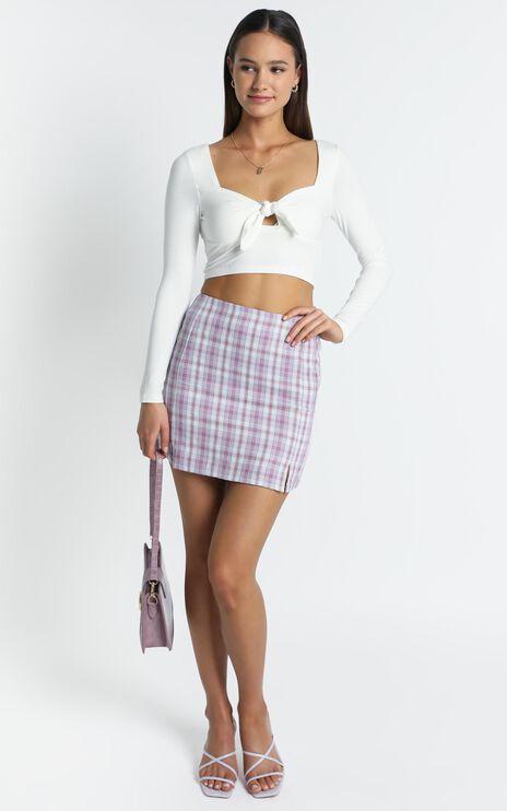 Mae Skirt in Purple Check