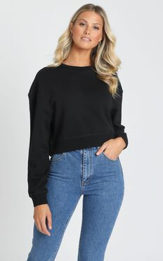 AS Colour - Crop Crew in Black