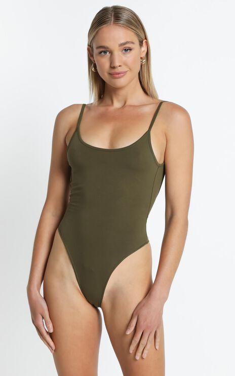Jasmin Bodysuit in Khaki