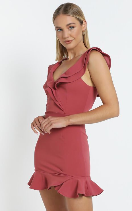 Alessandra Dress in Rose Pink