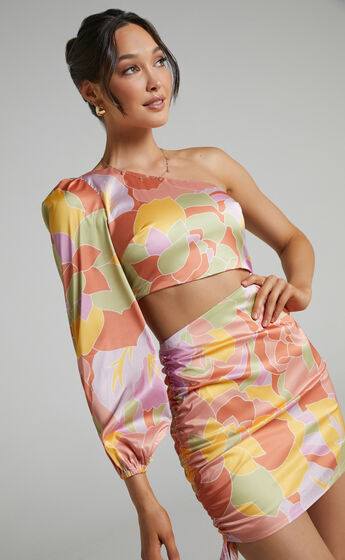 Runaway The Label - Mindy Draped Dress in Sage