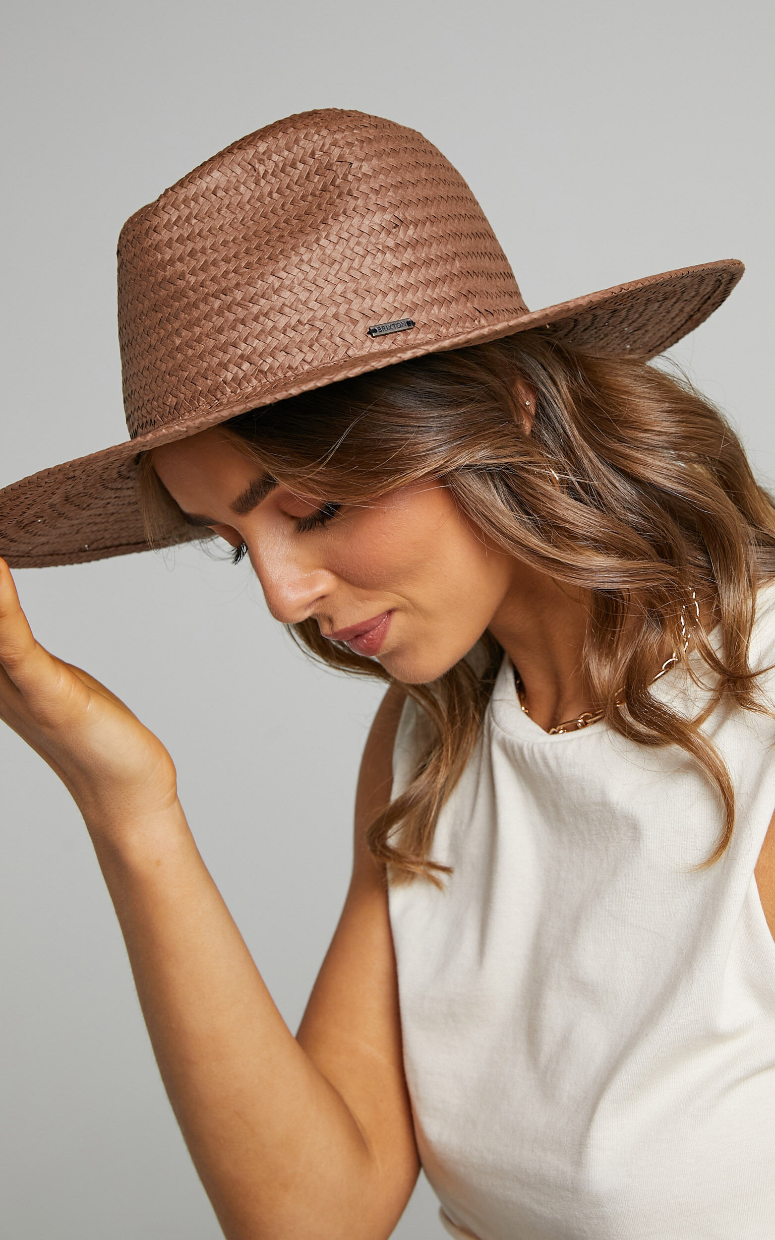 Brixton - Seaside Sun Hat in Brown - M/L, BRN1, super-hi-res image number null