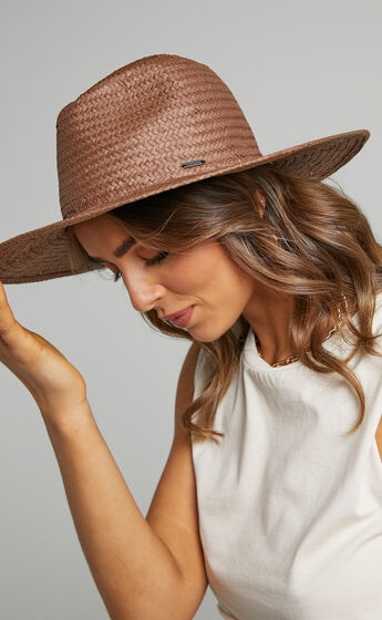 Brixton - Seaside Sun Hat in Brown