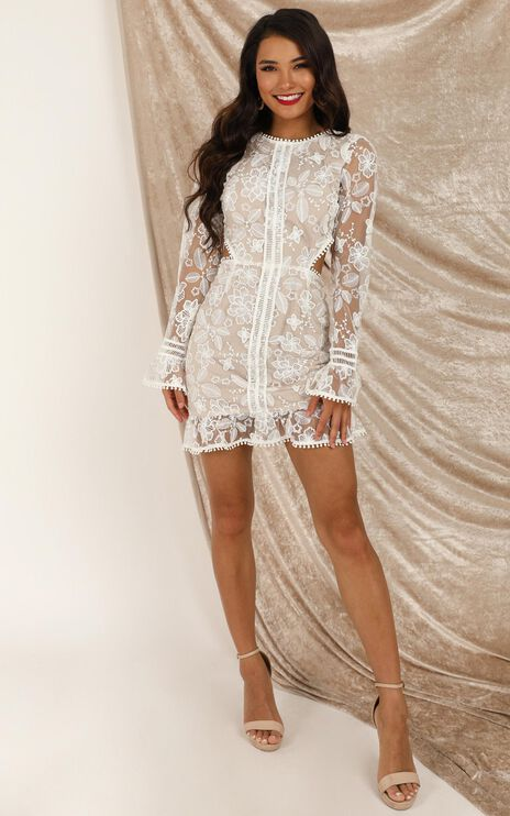 My Embrace Dress In Cream Lace