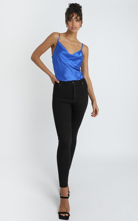 Straight Line Top in Cobalt