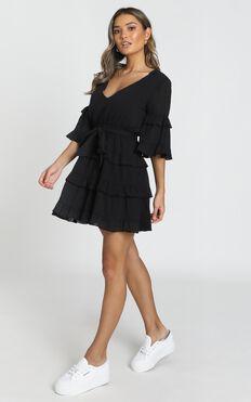 Meet Me In The Sun Dress In Black