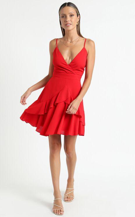 Feels Like Love Dress in Red