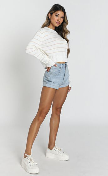 Sweeter With Love Knit Jumper In White