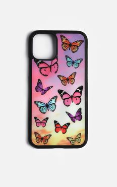 Butterflies iPhone Case In Pink And Purple