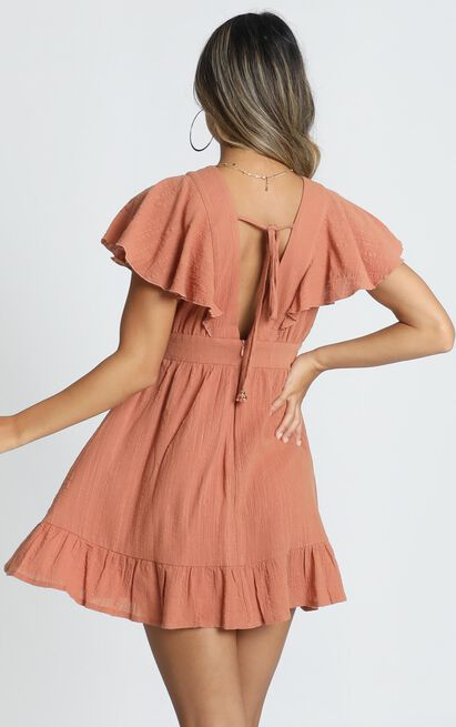 Keep Watching dress in rust - 18 (XXXL), Rust, hi-res image number null